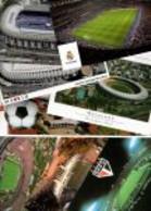 Lot STADES - 8 CP Stades De Football/Arenas (Sao Paulo(3) ,Maracana(2) Réal Madrid (2)) - 5 - 99 Postales