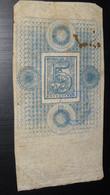 Republica Oriental Del Uruguay, 5 Centesimos, 1868 Emergency Postal Scrip Issue ............. Page2 - Uruguay