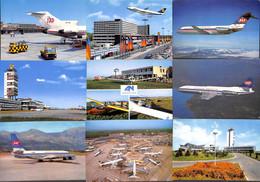 Airport Aéroport + Avions - Lot 11 Cartes Animée - Aerodromi