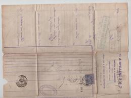 REF4093/ TP 48 S/LAC C&E Delloye C.Charleroi 1885 > Paris France Divers Cachets Dont Arrivée - Correo Rural