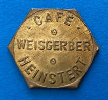 Heinstert - Café Weisgerber - Jeton De Café ( Province De Luxembourg ) - Altri
