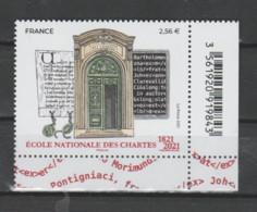 FRANCE / 2021 / Y&T N° 5472 ** : Ecole Nationales Des Chartes X 1 CdF Inf D Avec Code-barres - Neufs