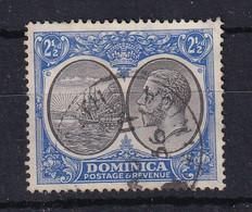 Dominica: 1923/33   KGV    SG78    2½d   Black & Ultramarine    Used - Dominica (...-1978)