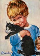 Enfants - Illustration - Dessin De Y Baudry - Chats- CPM - Voir Scans Recto-Verso - Disegni Infantili