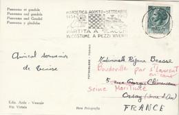 Jeux échecs - Italie Carte Postale VENISE Cachet Flamme Partita A Scacci In Costume Marostica 1957 Pour France - Echecs