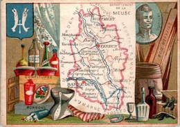 CHROMO -Département De La Meuse (55) Verdun Montmédy Montfaucon Charny Souilly Bar-le-Duc Commercy Vaubecourt Damvillers - Autres