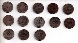 REF M6 : Monnaie Coin Lot 13 Monnaies Afrique AOF CFA Différentes 1967 68 69 71 72 73 74 75 76 77 78 84 2002 100 Francs - Other - Africa