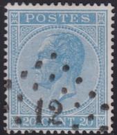 Belgie  .   OBP    .    18A   (2 Scans)  .     O    .  Gebruikt   .   /   .   Oblitéré - 1865-1866 Linksprofil