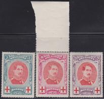 Belgie  .   OBP    .    132/134   (2 Scans)     .   **         .    Postfris      .   /   .  Neuf SANS Charnière - 1918 Red Cross