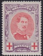 Belgie  .   OBP    .    134A  (2 Scans) . Perf. 12x12   .   **     .    Postfris      .   /   .  Neuf SANS Charnière - 1918 Croce Rossa