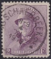 Belgie  .   OBP    .    176 (2 Scans) .  Signé    .   O    .   Gebruikt        .   /   . Oblitéré - 1919-1920 Behelmter König