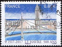 France Oblitération Cachet à Date N° 5166 - 500 Ans Du Havre - Bassin Du Commerce, Pont De Normandie - Oblitérés