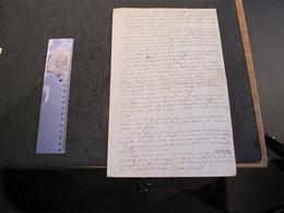HERVE 1858 - LETTRE DE MARIE BARBE SMALT RECLAME AUGMENTATION RENTE A JOSEPH DEWEZ SUR UN BIEN SITUE A HERVE - Manuscripts