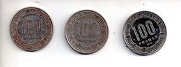REF M6 : Monnaie Coin TCHAD Lot De 3 Monnaies 100 Francs 1971 1972 1988 - Ciad