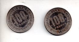REF M6 : Monnaie Coin Gabon République Gabonaise Lot De 2 Monnaies 100 Francs 1971 1972 - Chad