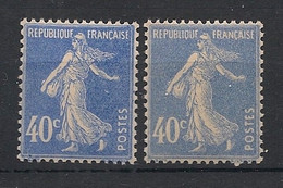 France - 1927 - N°Yv. 237 Et 237a - Semeuse 40c - Outremer Et Gris-bleu - Neuf Luxe ** / MNH / Postfrisch - Nuovi