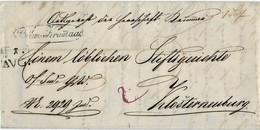 "1845, Oval "" Böhm. Krumau "" Mit Dat. Stp. ,  A4615 - ...-1850 Prephilately"