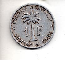REF M6 : Monnaie Coin 1 Franc 1958 Congo Belge Ruanda - 1951-1960: Baudouin I