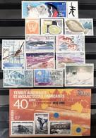 TAAF 1995, Poste N° 194/202 ; Poste Aérienne N° 134/136, Bloc N° 2, Luxe, Timbres Juste Magnifiques - Komplette Jahrgänge