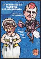 CPM Timbre Monnaie Tirage Limité 30 Ex Numérotés Et Signés Par JIHEL CASTEX Satirique COVID Caricature - Francobolli (rappresentazioni)