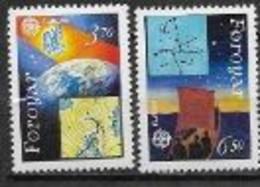 Féroé 1991 N° 211/212 Europa L'Europe Et L'espace - 1991