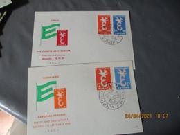 Europa Lot De 7 Lettre Fdc 1958 Et 1971 Espagne Belgique  Nederland - 1958