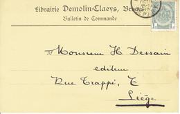 CP/PK Publicitaire BRUGGE 1910 - Librairie DEMOLIN-CLAEYS Place Des Biscayens BRUGES - Brugge