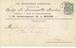 CP/PK Publicitaire BRUGGE 1908 - LEO DEPOORTERE'S BOEKHANDEL -Opvolger LEO- LESCRAUWAET-DE BUSSCHERE Uitgever-boekhandel - Brugge