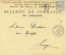 CP/PK Publicitaire BRUGGE 1908 - Entête Librairie G. GEUENS-WILLAERT  Ancienne Maison E. GEUENS-SEAUX Boekhandel BRUGES - Brugge