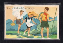 (24/04/21) 33-CPA ARCACHON - CARTE A SYSTEME - Arcachon