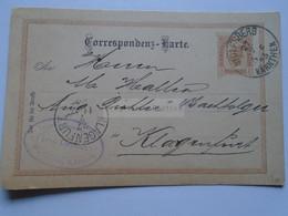 D178652  Österreich Ganzsache  1895    Wolfsberg (Kärnten) Leopold Lienhardt - Hammerwerk - Sent To Klagenfurt - Sin Clasificación