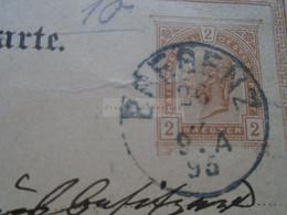 D178653  Österreich Ganzsache  1895   Bregenz - Sent To Rheinfelden (Baden)  Hotel Bellevue - Sin Clasificación