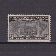 CUBA 1928, Mi# 67, Architecture, MH - Neufs