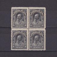 CUBA 1911, Mi# 25, Carlos Roloff, Block Of 4, MNH - Ungebraucht