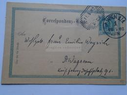 D178658   Österreich Ganzsache  1902    WIEN    Sent To Deutsch-Wagram -Emilia Weyrich - Sin Clasificación
