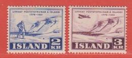 1951 Iceland ** (sans Charn., MNH, Postfrish)  Yv  236/7Mi  273/4FA  309/10 - Nuevos