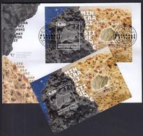 Croatia 2020 / Minerals And Rocks, Hraschina Meteorite, Lithothamnium Limestone / MNH Block + FDC - Croatia