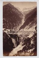 OLD PHOTO +- 1890   GOESCHENEN  GOTTHARDBAHN    15 X 9 CM - UR Uri