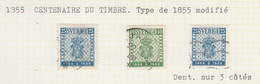 SUEDE USED YVERT 395/96 1 395a Centenaire Du Timbre - Used Stamps