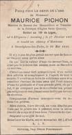 ABL , Maurice Pichon , Soldat 19e De Ligne , Né à Ellignies Tombé Au Champ D'honneur à Oesselghem Lez Zulte Le 26 Mai 40 - Obituary Notices