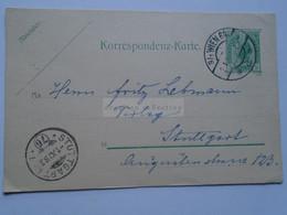 D178662  Österreich Ganzsache  1906  WIEN 64 - Sttutgart  Fritz Lehmann Verlag - Sin Clasificación