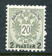 Austrian Levant 1888 Surcharges - 2pi On 20k Greenish Grey HM (SG 25) - Nuovi