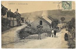 A1 Côte D'Or 21 CRUGEY La Grande Rue 1907, 2 Petits Plis Haut Gauche Et Droit - Other Municipalities