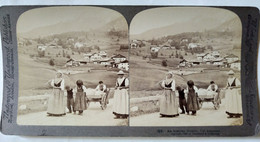 PHOTO STÉRÉO AUTRICHE - Val Ampezzo - Scène Rurale - - 1898 - Ed. Underwood - TBE - Stereoscopio