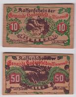 ÖSTERREICH, Hadersfeld, 10 & 50 Heller 1920 - Austria