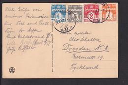 D38 /  Dänemark 4 Marken Buntfrankatur 1914 Kobenhagen - Dresden - Unclassified
