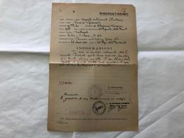 WW2 REPUBBLICA SOCIALE ITALIANA DOCUMENTO VALUTAZIONE SOLDATO SERGENTE FANTERIA - Sin Clasificación