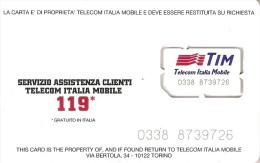 *ITALIA - TIM: GSM* - Scheda NUOVA (MINT) - [2] Tarjetas Móviles, Prepagadas & Recargos