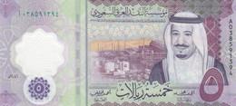 SAUDI ARABIA 5 RIYAL 2020 P-NEW KING SALMAN UNC POLYMER - Saudi Arabia