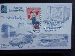 BELGIQUE, BELGIE BLOC 2001 EUROPESE POST, POSTE EUROPÉENNE, MI-NR B81 NEUF** - Bloques 1962-....